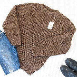 Sweaters - Woolmark Pure Wool Chunky Ribbed Sweater   NEW
